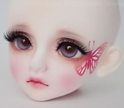 关于娃娃的化妆DIY教程,一个整头,需要太多的心细!