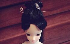 三生三世十里桃――花白浅发型教程,娃娃编发!