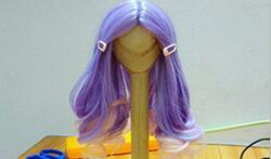 娃娃中分假发自制教程详解!内附刘海制作,做复杂头发的基础。