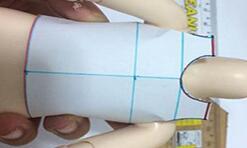 娃衣打版――量好尺寸以后,制作版子