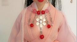 古装娃娃华丽版项圈制作教程,也是很简单的操作