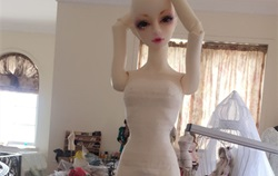 BJD娃娃自制鱼尾小礼服!纸样版!