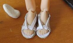 玩偶娃娃,真皮凉鞋分解说明制作教程