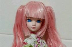 娃娃双马尾辫子头发制作教程,带卷发的。