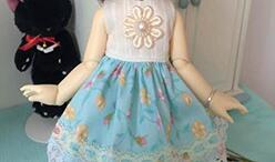娃娃连衣裙制作教程,可爱娃娃连衣裙。