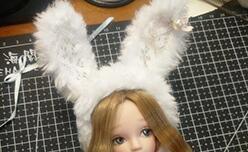 娃娃兔子帽,30分钟快速手缝。