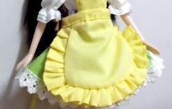 娃娃小围裙制作教程,上得了厨房。