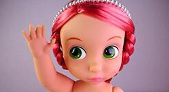 [视频]沙龙娃娃化妆改妆教程,大娃娃好可爱!