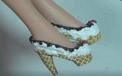 自己动手做一双迷你雪糕高跟鞋,超可爱!