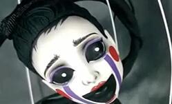怪高娃娃改妆,成恐怖玩偶,胆小别来。