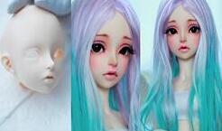bjd娃娃改妆教程,淑女妆,好漂亮。