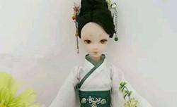 可儿娃娃娃衣制作,汉服二绕曲裾教程