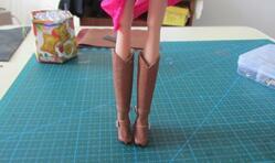 可儿娃娃,小皮靴制作教程。