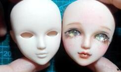 1.5元练妆开眼娃娃头,化妆,改妆成小妖精