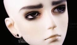 bjd,男娃娃改妆,附有安装耳钉,耳环教程。