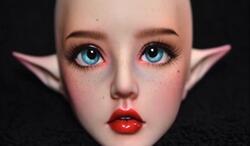 bjd,娃娃改妆,可爱的小精灵,你爱上了没?