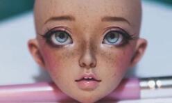 bjd,娃娃改妆,雀斑脸,丑八怪教程视频