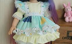 沙龙娃娃可爱的小洋装制作教程,从头到脚。