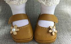 沙龙娃娃小皮凉鞋制作教程,好可爱。