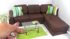 迷你组合沙发,现代沙发客厅装饰,迷你家具教程视频