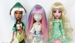 娃娃假发制作,带刘海,双色发,适用于各种娃娃。