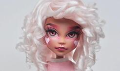 用毛线制作假发,卷发。给bjd娃娃一个不同的体验。