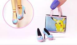 给芭比娃娃,可儿娃娃做一套口袋宝贝鞋包