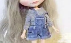 DIY背带裤教程,给心爱的娃娃做个背带裤。
