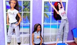 DIY迷你娃衣,自己动手给六分娃做一条慢跑运动裤,很精致哦!