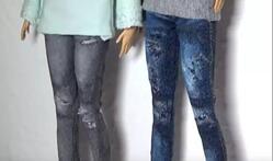 DIY迷你娃衣制作,自己动手做一件做旧牛仔裤,比买来的还好看!