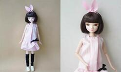 可儿娃娃甜美连衣裙制作教程,令她粉嫩一夏!