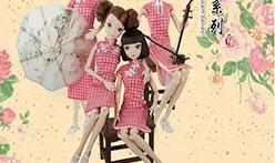 给可儿娃娃做一件漂亮的旗袍! 性感又漂亮。