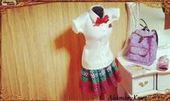 DIY迷你娃衣,给玩偶制作一套迷你校服,心都被萌化了!