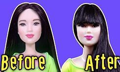 如何给芭比娃娃剪刘海?有了刘海好可爱。