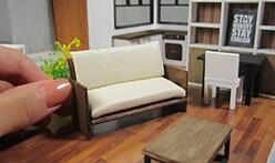 给芭比娃娃做一张简单又精致的现代迷你沙发