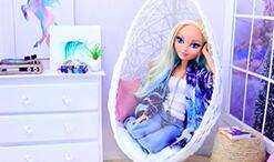 给芭比娃娃做一张迷你吊篮藤椅,适用于各种娃娃!