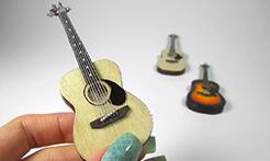 DIY迷你吉他,自己动手给六分娃做一把小吉他,太精致了!