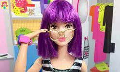 给芭比娃娃,可儿娃娃,BJD娃娃做一副眼镜!简单又好看。