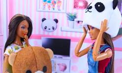 给芭比娃娃,可儿娃娃,丽佳娃娃做头套面具,超可爱!