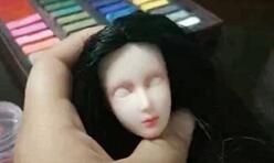 心怡娃娃写实头如何画眼白笔触小教程,适合所有的娃娃画眼白。