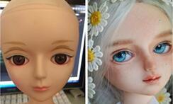 国产大个罗拉娃娃改妆,改造,真人风,肌肤纹理小白入门!