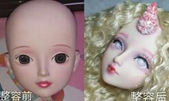 [娃娃改造]国产叶罗丽娃娃改妆成粉嫩梦幻独角兽