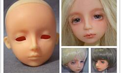 [娃娃改妆]自制bjd4分头,第一个娃娃从捏脸到上妆