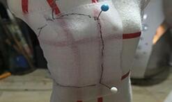 可儿娃娃娃衣抹胸,立裁打版教程。