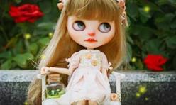 Blythe小布娃娃,DIY蝴蝶萤火虫摆件,高大上的夜光瓶~