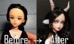 [娃娃改造]让地摊芭比娃娃蜕变为摩羯仙子[娃改星座系列]
