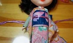给你的Blythe小布娃娃做一件迷你和服,和服制作教程。