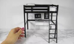 给可儿娃娃做一个上面是床,下面是写字台的迷你家具
