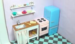 给可儿娃娃的厨房做一个迷你洗碗台和迷你置物架