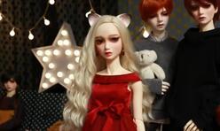 如何给BJD娃娃装上一对可爱的猫耳朵,视频教学。